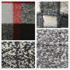 Новая конструкция печатных шерсть смесь полиэстера вискозной шерсти ткань