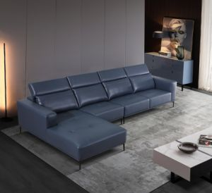2021 último projeto de vida moderna mobília de Quarto Cama sofá de canto de couro Fp-Fj08