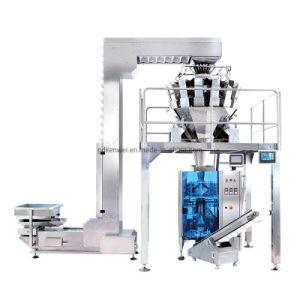 Totalmente Vertical Automática para embalar alimentos máquina de enchimento com Pesador multihead