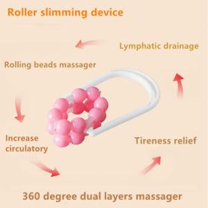 360 grados de capas de doble rodillo Masajeador de bolsillo para las piernas brazos delgados muslos