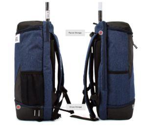 Sac à dos Sac à dos de la Marine de badminton des sports de raquette Sac Chaussure Pocket