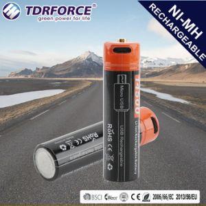 Nachladbares Lithium-Ion/Plastik-Batterie für LED-Lichter: Elektrisches Hilfsmittel (14500 750mAh)