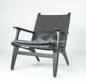 Un style moderne en bois massif rembourrés en cuir gris Fauteuil ...