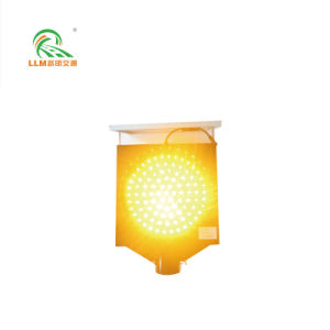 Indicatore luminoso d'avvertimento infiammante giallo/ambrato alimentato solare 200mm di traffico del LED