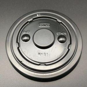 PS plano de plástico tazas con tapa para rasgar las tapas de PS Ficha