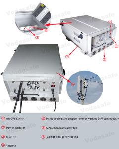 Sistema de Bloqueio da prisão de alta potência, 600 W de potência de saída, Raio de Cobertura até 100-300 m, congestionamentos para 2/3/4G Cellphone/Wi-Fi/Bluetooth