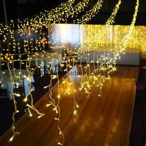 Warme Eiszapfen-Lichter des weißes Weihnachtenled für im Freiendekorationen