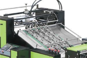 Sellado de pegamento caliente bolsa de papel automático que hace la máquina con la parte inferior de alimentación de la tarjeta