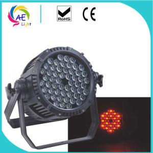 54pcs*3W LED PAR 54 RGBW impermeable a la par de LED de luz de la etapa