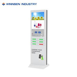 Handels-LCD-Bildschirmanzeige, die aufladenkiosksichere Pin-Verschluss-Schließfächer bekanntmacht