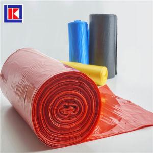 공장 판매 롤에 있는 생물 분해성 LDPE/HDPE에 의하여 주문을 받아서 만들어지는 쓰레기통 강선