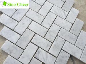 Los materiales de construcción en piedra de mármol blanco de Carrara azulejos espiga