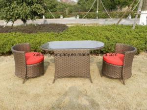3 piezas de aluminio Rattan sofá