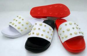 Mulher EVA PU chinelos deslizantes Flipflop Exterior de pantufas