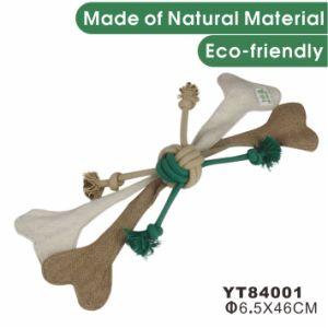 자연적인 대마 대화식 개 애완 동물 장난감 애완 동물 공급 (YT84005)