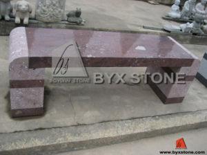 庭のための赤いGranite Popular Stone Furniture Granite Bench