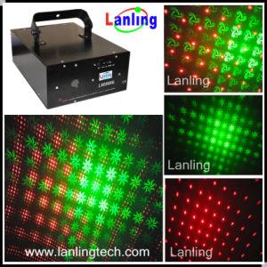 Красный и Зеленый мерцание света лазера