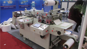 Automatc pieno Roll a Roll Continuous Free Adhesive Tape Die Cutting Machine (certficate del CE)