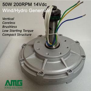 50W 200rpm de Permanente Generator van de Magneet Coreless