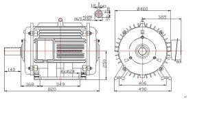 Basso-velocità Horizontal Permanent Magnet Generator di 15kw 150rpm