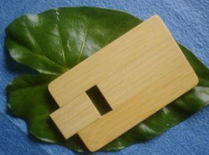 木のクレジットカードUSBのフラッシュ駆動機構(E115)