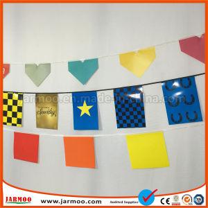 Bunting van de Stof van de polyester Kleurrijke Vlag
