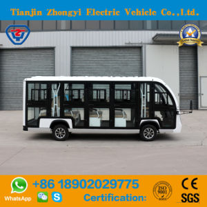 Aprovado pela CE 14 lugares a visitar carro eléctrico fechado com alta qualidade