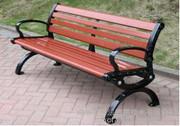 Im Freienpark-Aluminiumprüftisch mit Rückseiten-/Bein-Roheisen-Stuhl
