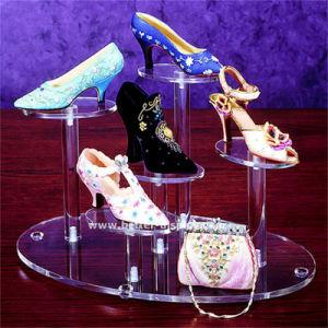 Kundenspezifisches Acrylwand-Montierungs-Schuh-Bildschirmanzeige-Regal