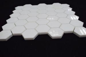 De hoogwaardige Griekse Witte Hexagon Gevormde Marmeren Tegel van het Mozaïek van de Steen Thassos
