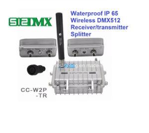 À prova de transmissor/receptor sem fio DMX512 Splitter com 3pino 5 pino DMX misturador/Distribuidor DMX