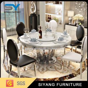 Muebles de estilo francés Mesa Redonda mesa de comedor de cristal en EE.UU.