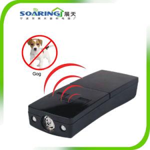 Ultrasonidos portátil Repeller perro Dog Trainer con luz LED (ZT12013)