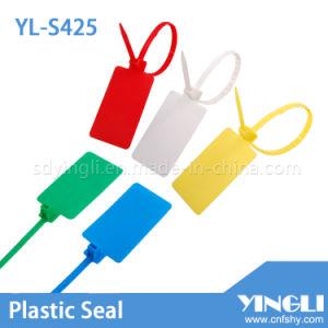 Vedação de Segurança de plástico ajustável com etiqueta de grande (Logística yl-S425)
