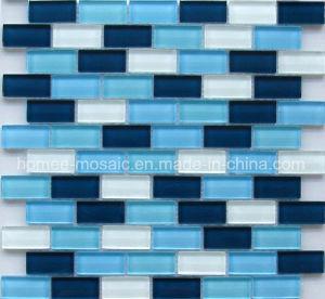 Tuile de mosaïque bleue de brique de verre cristal (AM30)
