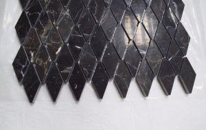 Shap irrégulière Emperador foncé / échelle de poissons de la Mosaïque Mosaïque de diamant pour l'étage