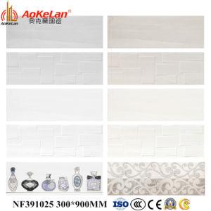 verglaasde het Nieuwe Ontwerp Inkjet van 300X900mm de Binnenlandse Ceramische Tegel van de Muur