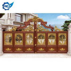 Puerta de aluminio tradicional de alta calidad Patio de la puerta delantera