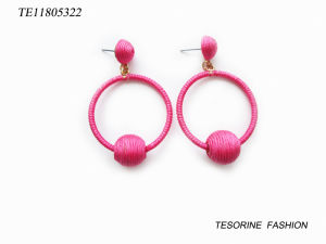 Cheap Wholesale Fashion Design rose populaire Hoop Earrings