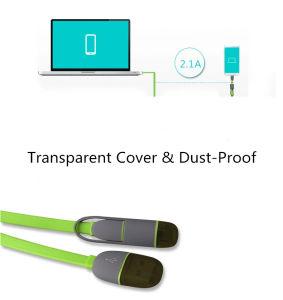 USB-кабель для подключения мобильного телефона iPhone молнии кабель Samsung кабель USB 2 в 1