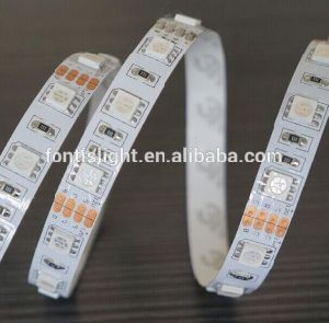 Buon indicatore luminoso di striscia naturale della striscia 5050/SMD 5050 LED di bianco LED di prezzi DC12V/24V 19.2W 60LEDs/Meter