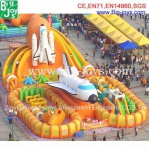 preço de fábrica Avião Gigante Cidade insufláveis, Mega Parque de Diversões inflável com marcação CE, Professional Design Cidade insufláveis