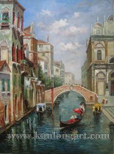 Schilderen van het Landschap van Venetië het Klassieke op Canvas (klcvp-0009)