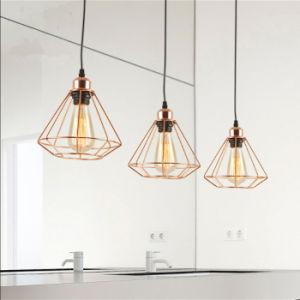 Polígono acabados de polimento de ouro Vintage Pendente de fio de luz para a Arte Deco Loft, cozinha e muito mais