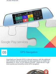 73G carro DVR Espelho Retrovisor Camera Android Market 5.0 Navegação GPS WiFi lente dupla FHD Gravador 1080P Automobile Dash Cam