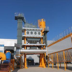 На стоящем автомобиле асфальт завод заслонки смешения воздушных потоков и заслонки смешения воздушных потоков асфальта Mobill завод 120 т/ч для продажи