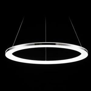 Anel círculo ao redor de três camadas pendente de acrílico LED Light