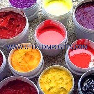 Pigmento multicolor para productos de plástico reforzado con fibra