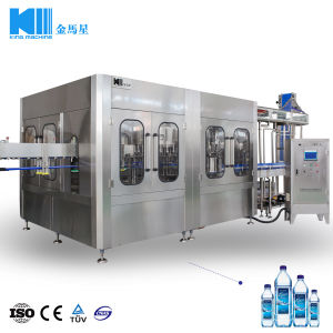 Полная вода в бутылках производственной линии или оборудования или системы