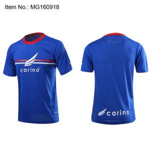 Camiseta de fútbol personalizadas custom Plain impresión Impreso Camisetas  de fútbol prendas de vestir 100% poliéster Ajustar en seco de los hombres  ... 0467ca2ef05dd